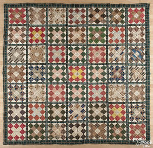 New Jersey pieced and appliqu friendship quilt dated