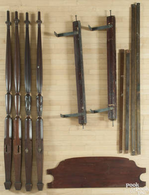 Federal mahogany tall post bed ca 1810