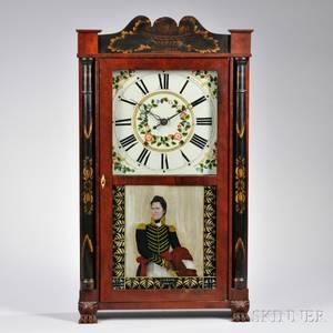 H Hart amp Son Stenciled Column and Splat Shelf Clock