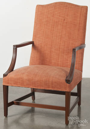 Federal style mahogany lolling chair Provenance The Estate of Mark and Joan Eaby