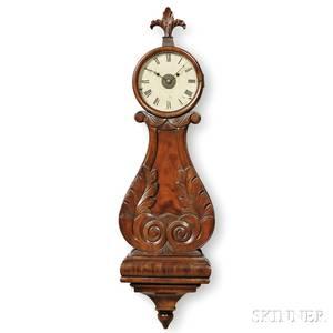 Abiel Chandler Mahogany Wood Front Lyre Clock