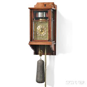 Japanese Eightday Lantern Clock and Wall Bracket