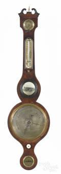 English mahogany banjo barometer