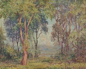 Winfield Scott Clime American 18811958 Spring Landscape Connecticut