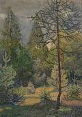 Alfred Hagel Austrian 18981945 Alpine Forest