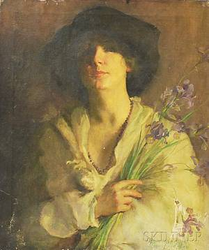 Marion Boyd Allen American 18621941 Woman with Iris