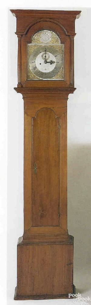 Elizabethtown New Jersey Queen Anne cherry tall case clock ca 1760