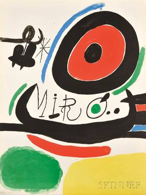 Joan Mir Spanish 18931983 Poster for the Exhibition Tres Libros Osaka