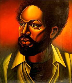 Jonathan Bruce African American b 1948 Portrait of a Man