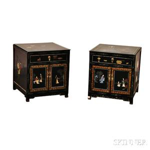 Pair of Chinesestyle Lacquered Side Tables