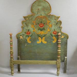 Louis XVstyle Polychrome Gesso Bed