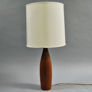 Midcentury Modern Cherry Pinform Table Lamp