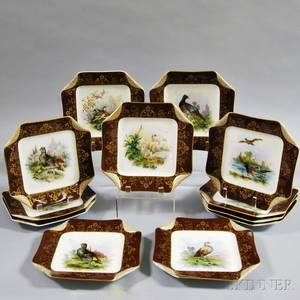 Set of Twelve Haviland Porcelain Bird Plates
