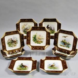 Set of Twelve Haviland Porcelain Bird Plates
