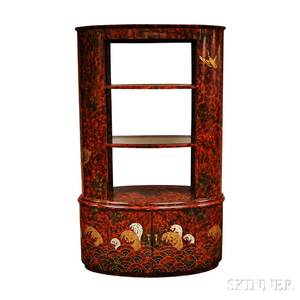 Redlacquered Display Cabinet