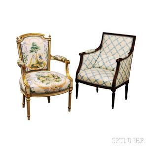 Louis XVIstyle Fauteuil and Bergere