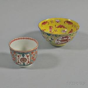 Chinese Famille Rose Bowl and Teacup