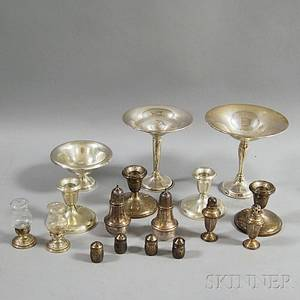 Seventeen Pieces of Sterling Silver Tableware