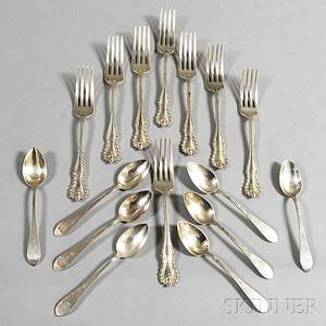 Sixteen Pieces of Dominick amp Haff Sterling Silver Flatware