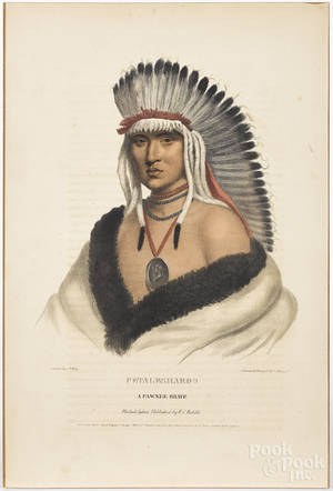 Two color lithographs of Native Americans