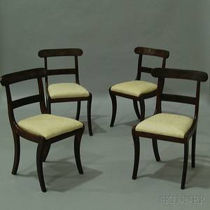 Set of Four Classical Mahogany Side Chairs
