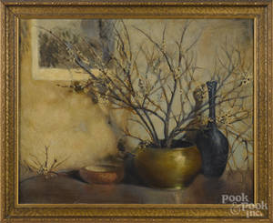 American oil on board still life