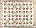 Bergen County New Jersey appliqu quilt mid 19th c