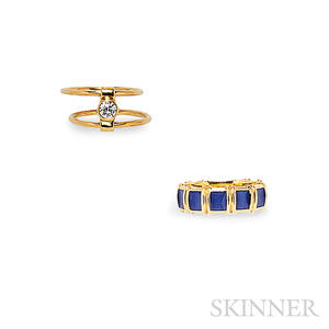 Two 18kt Gold Rings Tiffany amp Co
