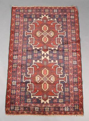 Hand Woven Mehabad Throw Rug