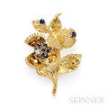 18kt Gold Sapphire and Diamond Chestnut Brooch Tiffany amp Co