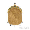 Antique 14kt Gold and Sapphire Mesh Purse