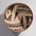 Gila Geometric Polychrome Pottery Bowl