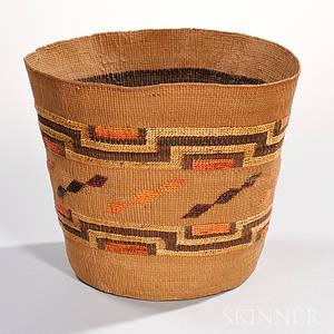 Tlingit Twined Polychrome Basket