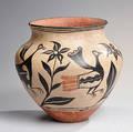Santo Domingo Polychrome Pottery Jar