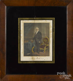 Two color engravings of President James Buchanan