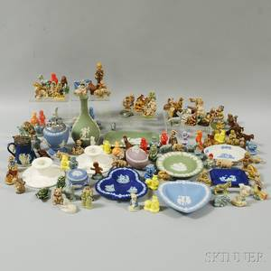 Group of Wedgwood Table Articles and Wadetype Ceramic Figures