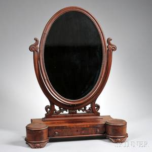Victorian Carved Mahogany Dressing Mirror