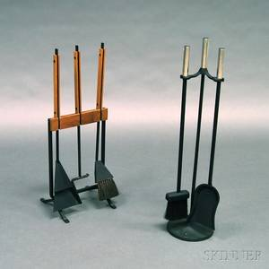 Two Sets of Modernist Fire Tools