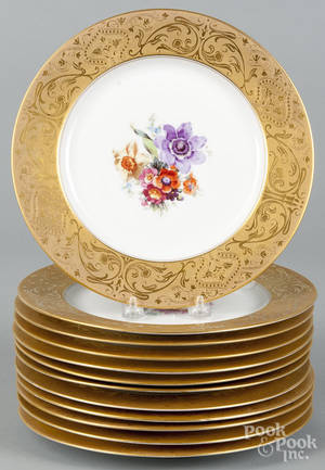 Set of twelve Royal Bavarian porcelain cabinet plates