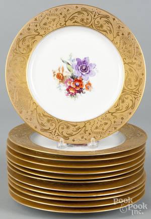 Set of twelve Royal Bavarian porcelain cabinet plates
