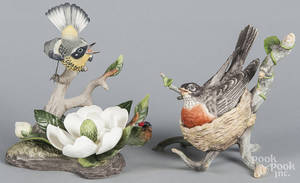 Two Boehm porcelain bird groups