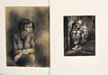 Johann Robert Schrch Swiss 18951941 Two Works on Paper Angst