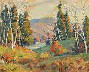 Leo B Blake American 18871976 Where the Birches Are Many