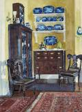 Louis Charles Vogt American 18641939 Blue and GoldA Home Interior