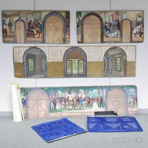 Gifford Beal American 18791956 Four Mural Studies for the Entrance Hall of the John C Green School of Engineering at Princeton Un