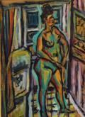 Isaac Pails UkrainianFrench 18951978 Green Nude
