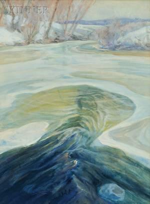 Charles Herbert Woodbury American 18641940 River in Winter