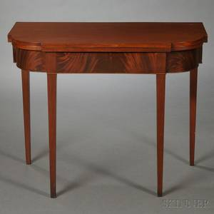 Mahogany and Mahogany Veneer Card Table