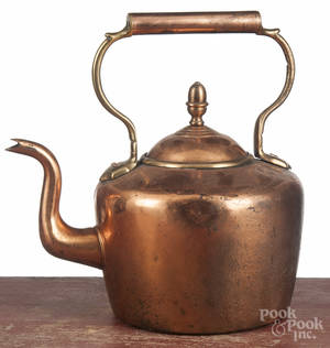 English copper tea kettle