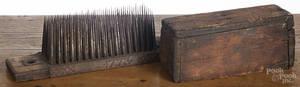 Pennsylvania pine and tin flax hatchel